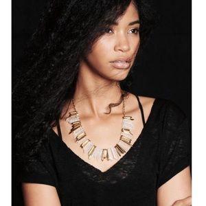 stella and dot rebel stone statement necklace